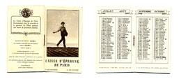 Calendrier 1938 - Caisse D'Epargne De Paris - Klein Formaat: 1921-40