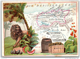 LE FIL GEOGRAPHIQUE - Province De Constantine - Chromos