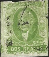 J) 1856 MEXICO, HIDALGO, 2 REALES GREEN, MEXICO DISTRICT, PLATE II, MN - Mexico