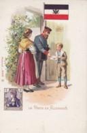 La Poste En Allemangne Germany Postal Service Mail Delivery Theme, Stamp Image, C1890s/1900s Vintage Postcard - Postal Services