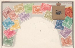 Western Australia Stamp Images, Ottmar Zieher #47, C1900s?/1930s? Vintage Postcard - Stamps (pictures)