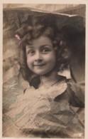 Beautiful Girl Smiles Through Newspaper Theme France, C1900s Vintage Real Photo Postcard - Photographs