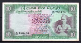 625-Ceylan Billet De 10 Rupees 1971 M156 - Sri Lanka