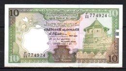 625-Sri Lanka Billet De 10 Rupees 1989 F88 - Sri Lanka