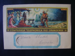 """ENVELOPE WITH THE MESSAGE FROM """"TELEPHONICA COMPANY RIO GRANDENSE (BRAZIL) IN 1944 IN THE STATE - New Year"""