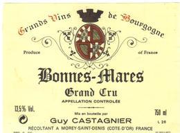 Etiquette Bonnes Mares - Domaine Catagnier - Morey Saint Denis - Cote D'Or - 21 - Bourgogne