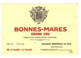 Etiquette Bonnes Mares -  Domaine Bertheau - Chambolle Musigny - Cote D'Or - 21 - Bourgogne