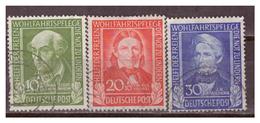 Bund  1949, Nr. 118-20, Gestempelt - Gebraucht