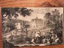 CPA, Illustrateur, L'Abeille, Saint Cloud, Le Parc De St Cloud Avant La Révolution, Le Parc Aux Chèvres, écrite En 1919 - Saint Cloud