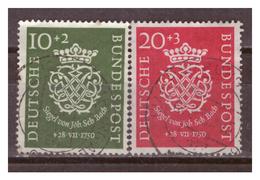 Bund  1950, Nr. 121/22, Gestempelt - Gebraucht