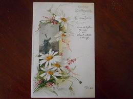 Marguerites Et Paysage(moulin) Signée C. Klein - Klein, Catharina