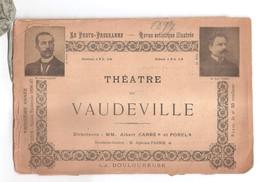 Théâtre Du Vaudeville - La Douloureuse De Maurice DONNAY - Programme Original De 1897 - Art