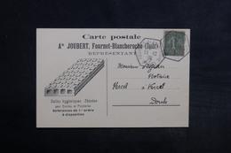 FRANCE - Carte Commerciale Illustrée De Fournet- Blancheroche Pour Vercel En 1919 - L 33130 - Postmark Collection (Covers)