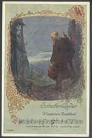 Ansichtskarten - Schubert-Lieder Wanderers Nachtlied O. Elsner - Sänger Und Musikanten