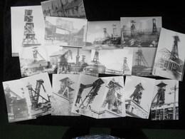 Lot De 17 Petite Photo's ( 10x7 Cm) Thèmes Charbonnage - Cartes Postales
