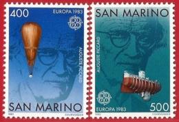 San Marino. 1983. Mi 1278 / 1279. EUROPE Cept. Auguste Piccard (1884 - 1962). Swiss Scientist - San Marino