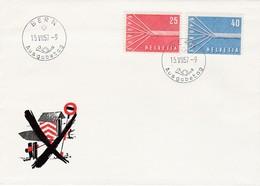 FDC PREMIER JOUR EUROPA 1957 Suisse - Europa-CEPT