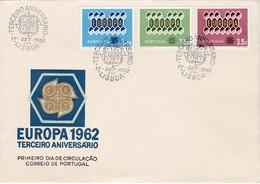 FDC PREMIER JOUR EUROPA 1962 Portugal - Europa-CEPT
