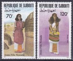 Dschibuti Djibouti 1993 Kultur Culture Trachten Costumes Nomaden Kleider Clothes Tradition Folklore, Mi. 576-7 ** - Dschibuti (1977-...)