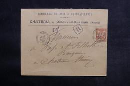 FRANCE - Enveloppe Commerciale En Recommandé De Oulchy Le Château Pour Château Thierry En 1900 - L 33154 - Postmark Collection (Covers)