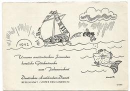 W3528 Propaganda Di Guerra - Deutscher Auslander Dienst - Berlin Unter Den Linden - Illustration / Non Viaggiata - Pubblicitari