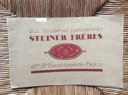 CATALOGUE STEINER FRÈRES  Aux Broderies Parisiennes *BRODERIE *LAYETTE *AMEUBLEMENT *DESSUS DE BERCEAUX Et TAIES - Cross Stitch