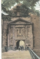 1200. BELFORT . LA PORTE DE BRISACH . CARTE ANIMEE COLORISEE ECRITE AU VERSO LE 1er AOUT 1915 - Belfort - City