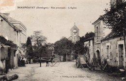24 -BEAUPOUYET -- 'Rare Cliché De La Rue Principale-L'Eglise' ;édit:A.Dando. - Altri Comuni