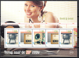 """Nederland 2019 Persoonlijke: Thema """"terug Naar De 20e Eeuw"""": Beeld En Geluid: TV, Radio, Grammofoon - Unused Stamps"""