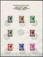 Belg. 1937 - 458/65 Tuberculosebestrujding/Antituberculeux  Brussel/Bruxelles 1-12-1937 - FDC