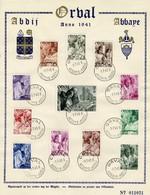 Belg. 1941 - 556/67 Abbaye-Abdij  Orval 1-07-1941 - ....-1951