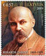 Latvia Lettland Lettonie 2019 (10) Latvian Graphic Artist Rihards Zarins - 150th Anniversary - Lettland