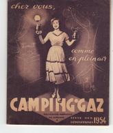 Brochure 38 Pages Liste Des Dépositaires Camping-gaz 1954.  Dos Publicité Air-France Lyon (promo Lyon-Alger-Lyon). - Werbung