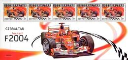 Gibraltar  Block 2004 Formel 1 Ferrari **/MNH - Automobilismo