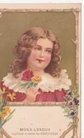 CPA Publicitaire Publicité MOKA LEROUX Fillette Jeune Fille Art Nouveau Art Déco Illustrateur (2 Scans) - Publicidad
