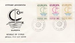 FDC PREMIER JOUR EUROPA 1966 Chypre - Europa-CEPT
