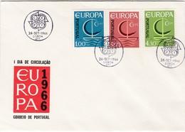 FDC PREMIER JOUR EUROPA 1966 Portugal - Europa-CEPT
