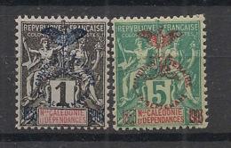 Nouvelle Calédonie - 1903 - N°Yv. 67 Et 70 - 1c Et 5c / Cinquantenaire - Neuf Luxe ** / MNH / Postfrisch - Unused Stamps