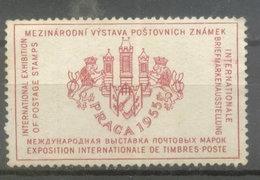 PRAGA -Czechoslovakia CINDERELLAS - INT. EXH. STAMPS 1955 (#5121) - Checoslovaquia
