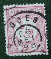Cijfer Cipher Cifre Cifra Zegel ½ Cent Synthetische Druk NVPH 30b 30 B (Mi 30 B) 1894 Gestempeld /Used NEDERLAND - 1852-1890 (Wilhelm III.)