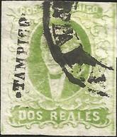 J) 1856 MEXICO, HIDALGO, 2 REALES GREEN, TAMPICO DISTRICT, CIRCULAR CANCELLATION, MN - Mexico