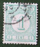 READ Cijfer Cipher Cifre Cifra Zegel 1 Cent Synthetische Druk NVPH 31a 31 A (Mi 31 B) 1894 Gestempeld /Used NEDERLAND - 1852-1890 (Wilhelm III.)