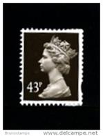 GREAT BRITAIN - 1998  MACHIN  43p.  WALSALL  PERF. 14  MINT NH  SG Y1717a - 1952-.... (Elizabeth II)