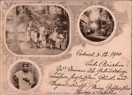 ! Alte Ansichtskarte, Old Postcard Malabar. Codacal 1900, Indien, India, Sea Post Office - Indien