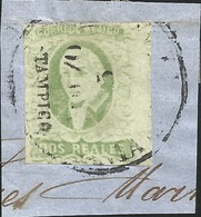 J) 1856 MEXICO, HIDALGO, FRAGMENT OF THE LETTER, DISTRICT TAMPICO, RIGHT JUMBO MARGINS, MN - Mexico
