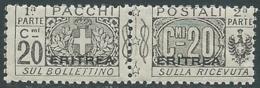 1917-24 ERITREA PACCHI POSTALI 20 CENT MNH ** - RA7 - Eritrea
