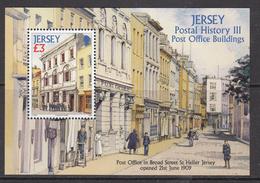 2009 Jersey Postal History Buildings Architecture    Souvenir Sheet MNH @  WELL BELOW FACE VALUE - Jersey