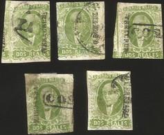 J) 1856 MEXICO, HIDALGO, 2 REALES NICE LOT, MN - Mexico