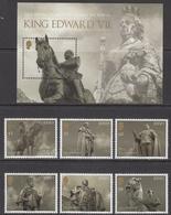 2013 Jersey Queen Victoria Legacy Complete Set Of 6 +   Souvenir Sheet MNH @  WELL BELOW FACE VALUE - Jersey