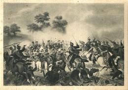 """4472 """"IL 4° BATTAGLIONE DEL 49° FANTERIA AL QUADRATO DI VILLAFRANCA-24/6/1866 (MUSEO RISORG)""""-CART. POST.ORIG. NON SPED - Militari"""